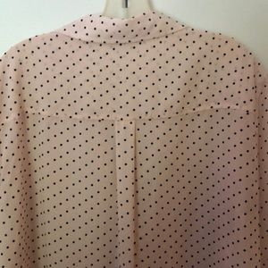 New York & Company Tops - Pretty in pink polkadot blouse.